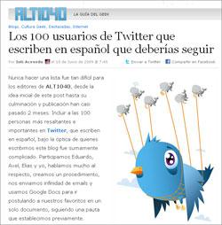 ALT140 stellt 100 lesenswerte spanischsprachige Twitterer vor