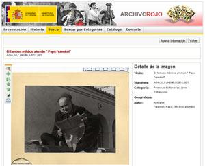 Beispiel für eine Detailseite des Archivo Rojo