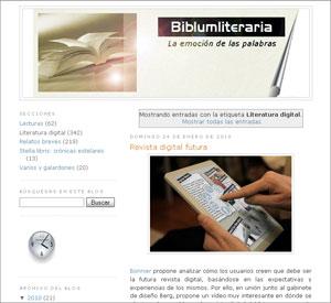 Biblumliteraria - Blog zur Digitalen Literatur