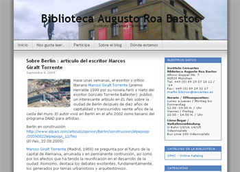 Blog der Bibliothek des Cervantes Institutes München