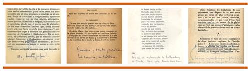 Cortázars Notizen in seinen Büchern