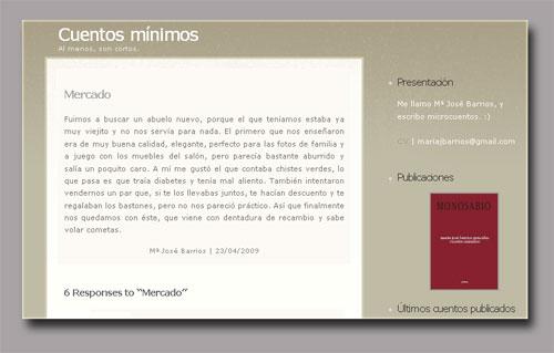 María José Barrios: Cuéntos Mínimos (Blog)