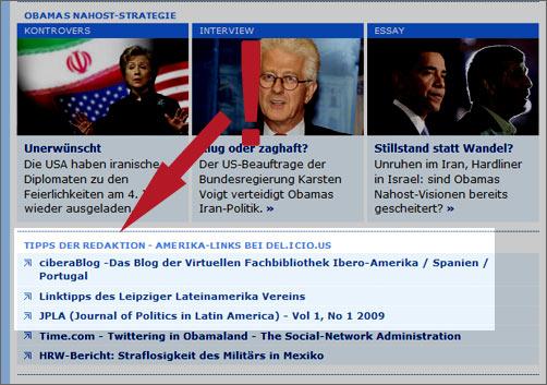 Deutsche Welle Amerika empfiehlt das ciberaBlog
