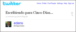 Enrique Dans teilt auf Twitter mit, dass er gerade an einem Artikel schreibt