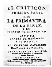 Titel 'El Criticón - Primera Parte'
