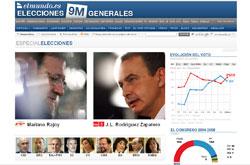 Wahlportal von 'El Mundo'