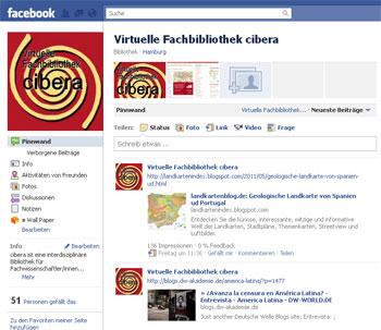 Facebook-Seite von cibera