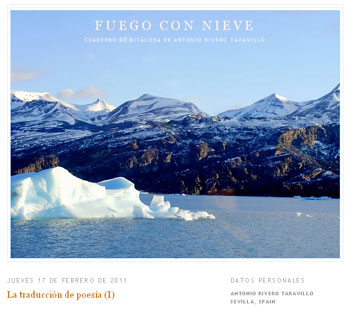 Fuego con Nieve - Blog von Antonio Rivero Taravillo