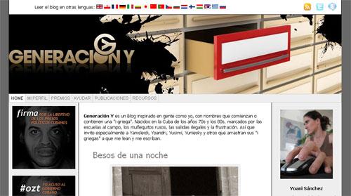 Generación Y - Blog von Yoani Sánchez