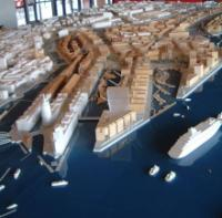 Modell der Hafencity