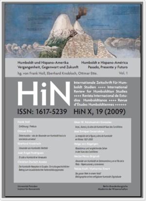 Titelblatt HiN X, 19 (2009)