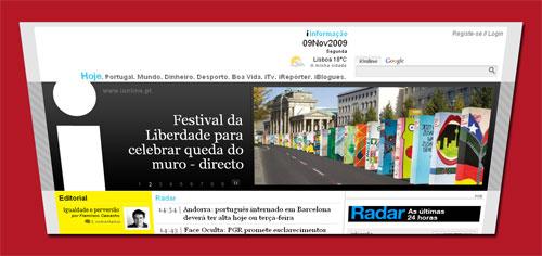 Screenshot der Online-Ausgabe von i am 9.11.2009