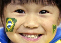Japanischer Brasilien-Fan