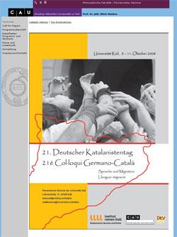 Website des Katalanistentages 2008 an der Uni Kiel