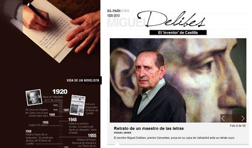 Miguel Delibes - Dossier in El País