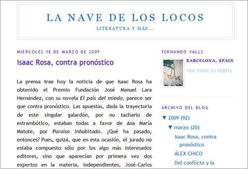 Blog de Fernando Valls: La nave de los locos