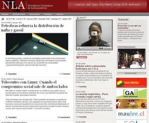 Etwa so wird das Portal aussehen - Screenshot NoticiasLa von Sebastian Molina