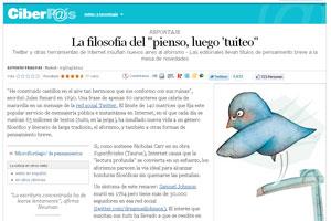El País: La filosofía del