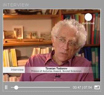 Tzvetan Todorov im Interview auf Euronews