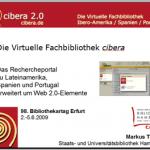 cibera-Präsentation auf dem Bibliothekartag in Erfurt
