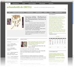 avhumboldt.de - Alexander von Humboldt Informationen online (Screenshot)