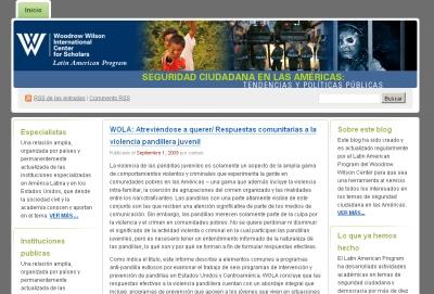 Seguridad Ciudadana en las Américas - Tendencias y politicas publicas