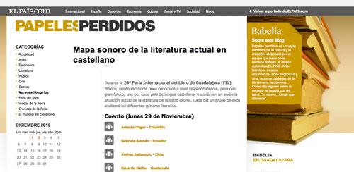 Mapa sonoro de la literatura actual en castellano