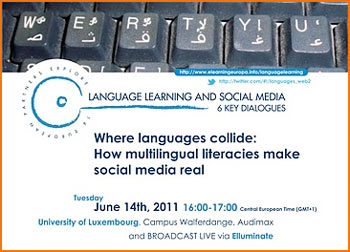 Webinar 'Where languages collide: How multilingual literacies make social media real'