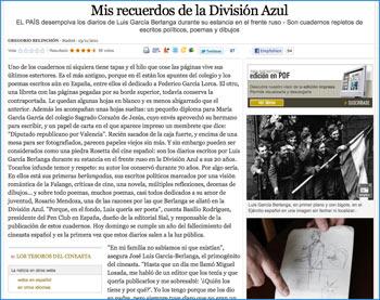 Diarios de Berlanga - Artículo El País