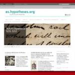 es.hypotheses.org – spanischsprachiges Blog-Portal der Geisteswissenschaften