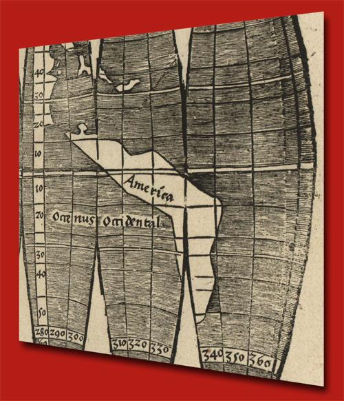Amerika auf der Waldseemüller Karte von 1517