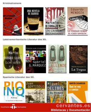 Bibliotheken des Instituto Cervantes in Deutschland: Libros electrónicos