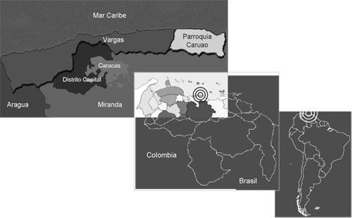 Ubicación relativa de la Parroquia Caruao