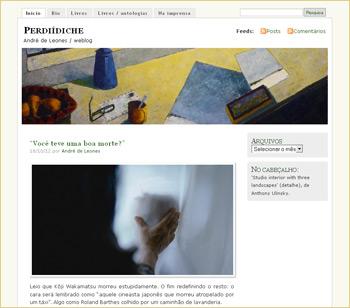 Autorenwebsite: Blog von André de Leones