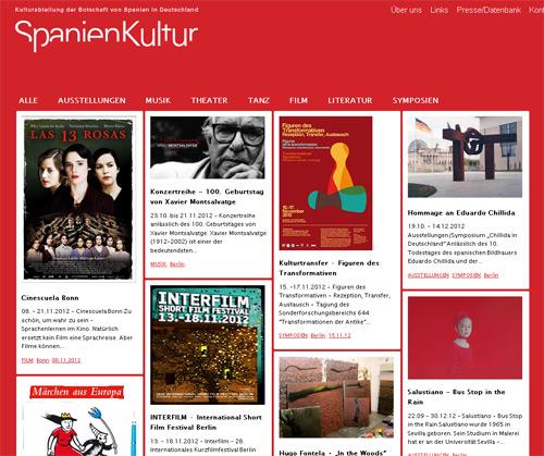 Neue Website der Kulturabteilung der Botschaft von Spanien