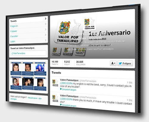 Twitter-Account @ValorTamaulipas