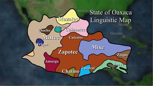 Linguistische Karte Oaxacas