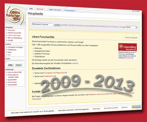 Besteht seit 4 Jahren: cibera ForscherWiki