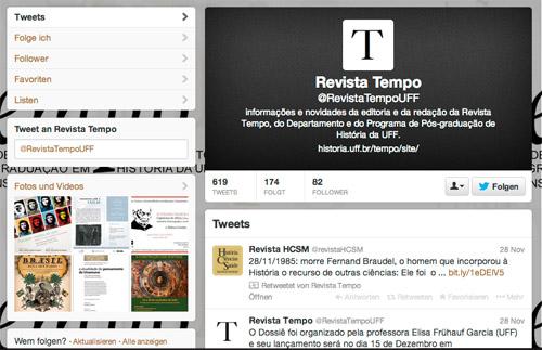 Revista Tempo auf Twitter