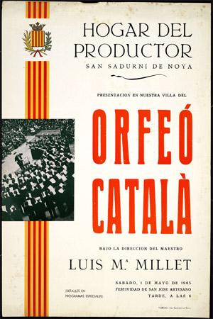 Presentación en nuestra villa del Orfeó Català