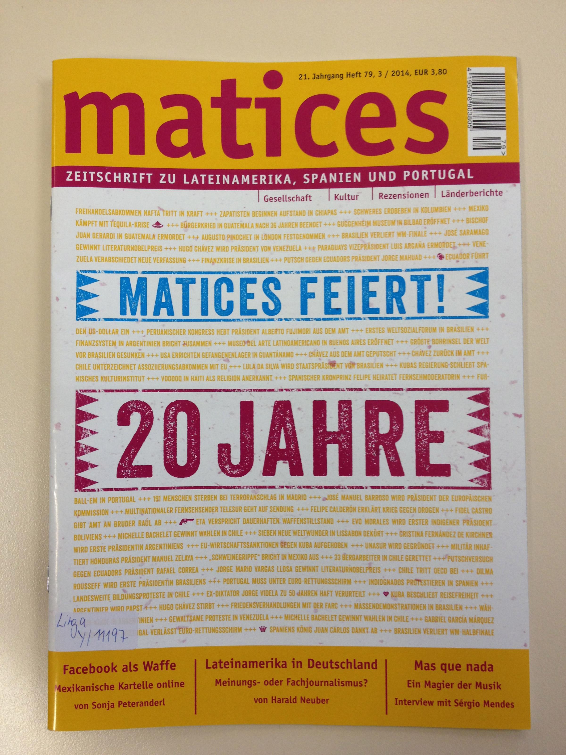 Jubiläumsausgabe 20 Jahre Matices