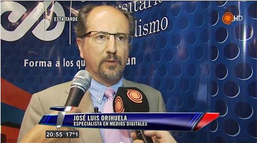 José Luis Orihuela im Interview bei Telenoche