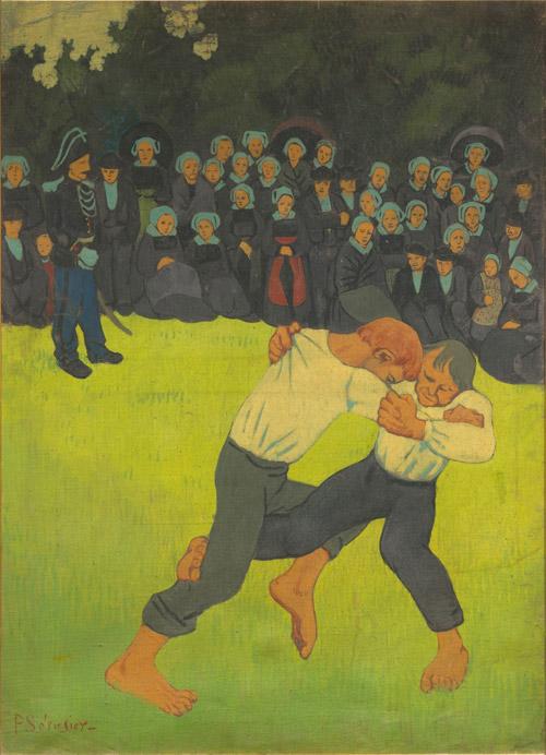 Paul Sérusier La Lutte bretonne, entre 1890 i 1891 [La lluita bretona]