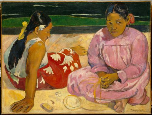 Paul Gauguin Femmes de Tahiti ou Sur la plage, 1891 12 [Dones de Tahití o A la platja]