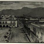 Oaxaca. La Plaza de Armas. Hotel de la Paz. Portal Quiñones. 1875