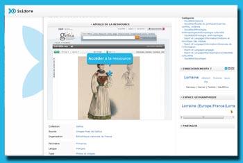 Isidore: Digitalisat bei Suche nach 'Lorraine'