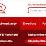 FID Romanistik jetzt auch mit Datenbank für romanistische Internetressourcen
