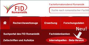 Datenbank für romanistische Internetressourcen
