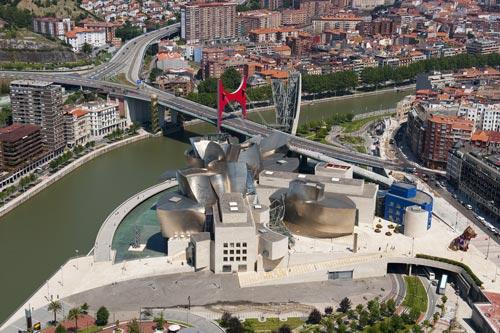 Guggenheim Bilbao: Luftaufnahme, Foto: Guggenheim Museum Bilbao