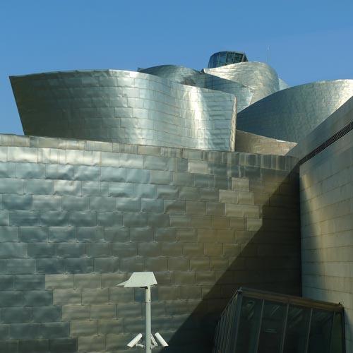 Guggenheim Bilbao: Außenansicht, Foto:Heiko Klaas